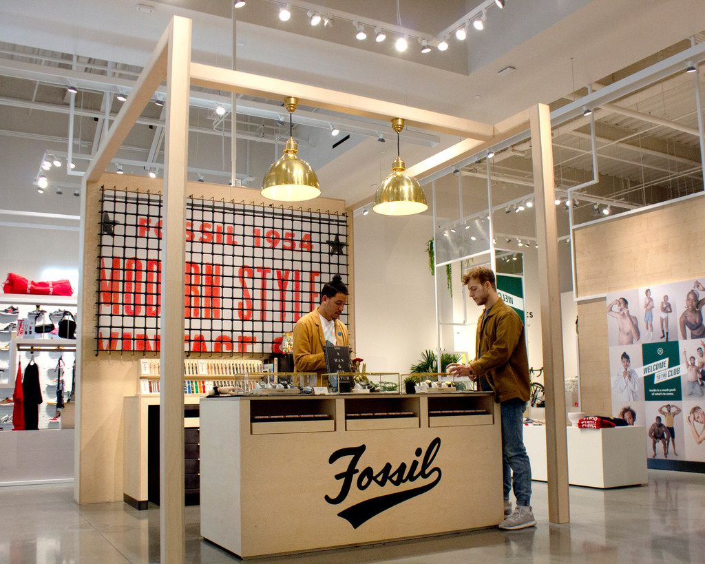 Fossil opened a temporary space in Neighborhood Goods at Plano's Legacy West.