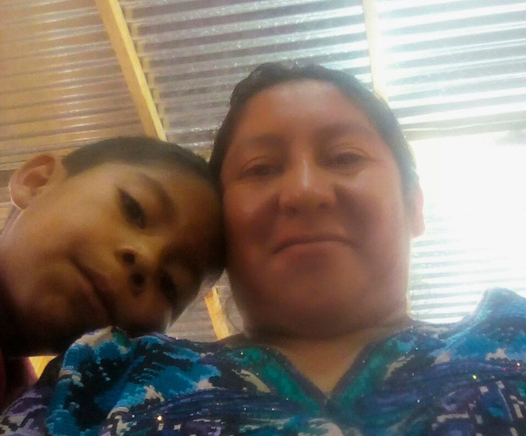 This 2018 photo provided by Beata Mariana de Jesus Mejia-Mejia shows herself with her son Darwin Micheal Mejia in Quetzaltenango, Guatemala, before they left for the United States and crossed the border near San Luis, Arizona. On Tuesday, June 19, Mejia-Mejia, who hasn't seen her 7-year-old son since he was taken from her a month ago, sued the Trump administration. She was released from custody while her asylum case is pending and thinks her son, Darwin, might be in a shelter in Arizona. (Beata Mariana de Jesus Mejia-Mejia via AP)