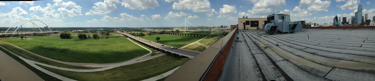 Heckuva view of the Trinity River from the Dawson State Jail, though. (Robert Wilonsky/Staff)