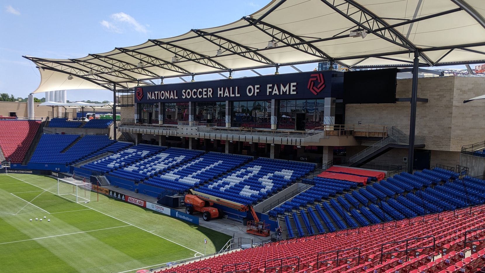 Toyota Stadium in Frisco, Texas.