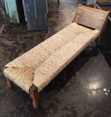 An 1880s primitive French recamier by Mike Turrentine is $3,400 retail at B Gover in Dallas Design District.