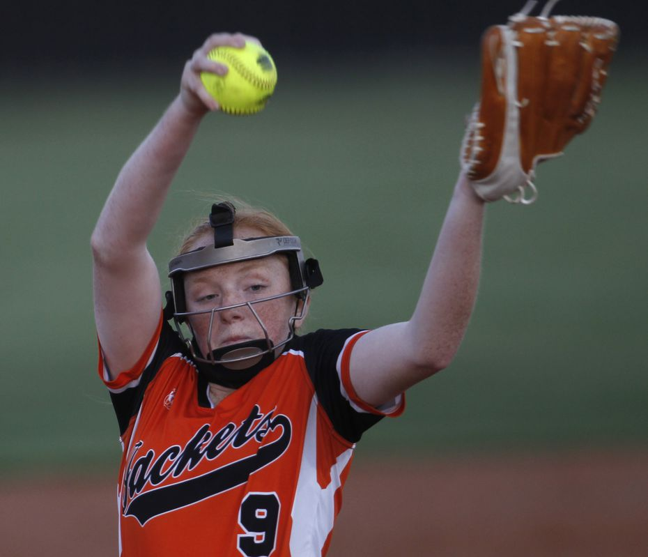 Rockwall pitcher Ainsley Pemberton on May 7, 2021.