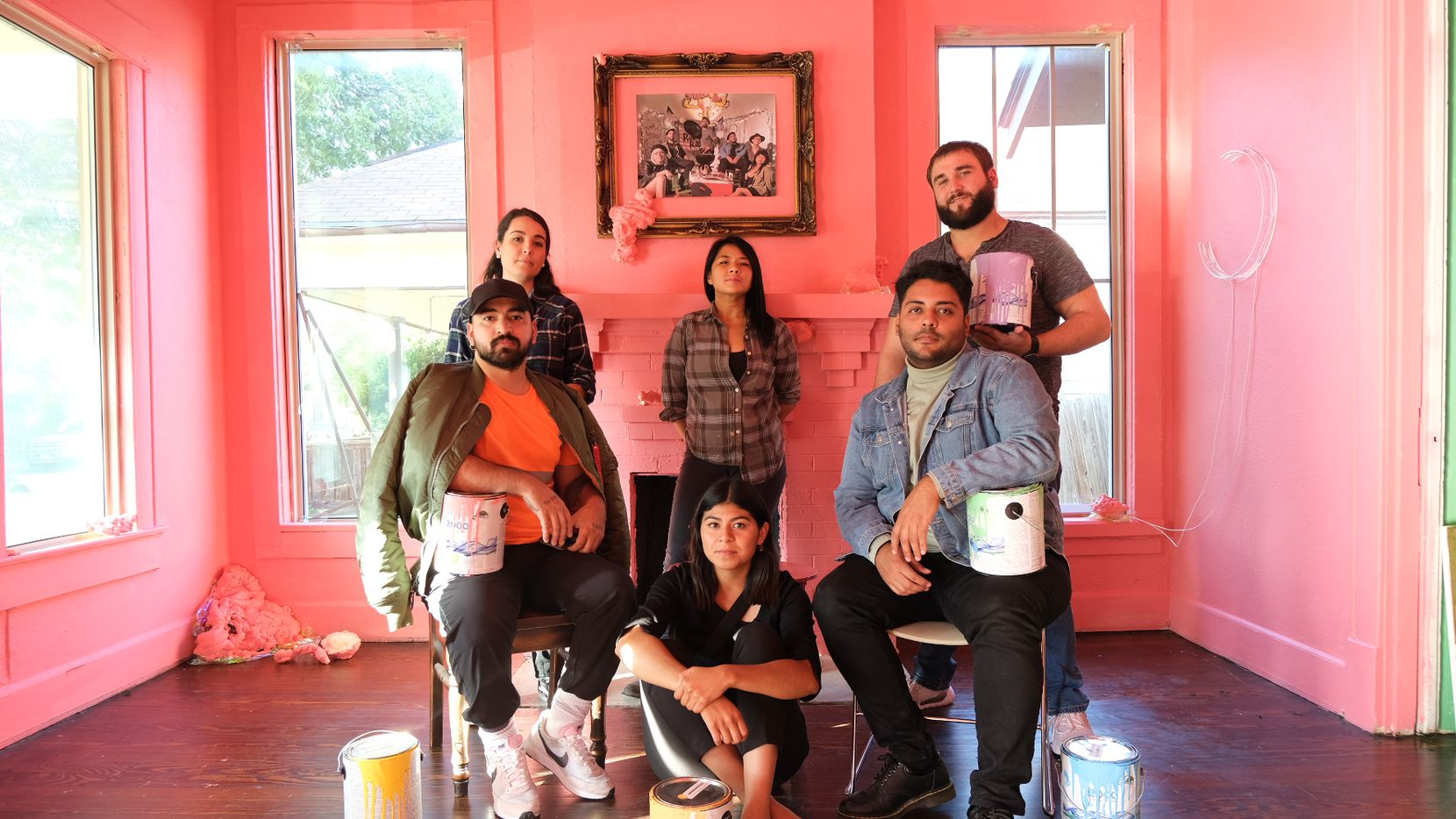 A group of local queer artists formed a collective called Third Space DFW in 2019. The collective seeks to fill the lack of LGBTQ representation in Fort Worth's art scene and provide a safe and public platform for queer artists in the area. Top row, from left to right: Norma Gonzalez, Kim Nguyen and Brad Westerman. Bottom row, from left to right: Antonio Mercado Sindy Mata and Christopher Najera.