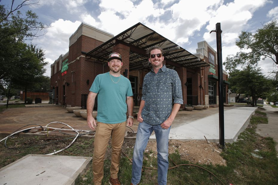 Austin Rodgers and Garrett Mayer plan to keep the industrial bones of the building's former life as Jake's Burgers, but they want to bring the outdoors in by keeping the seven garage doors open and adding lots of plants.