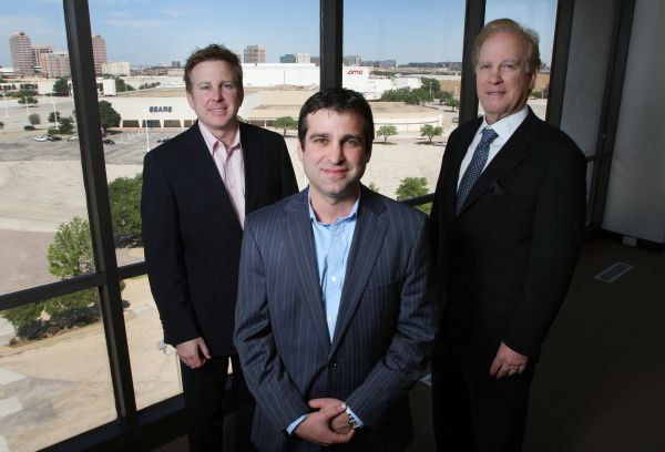 From left: Beck Ventures president Scott Beck, managing partner Jarrod Beck and founder Jeffrey Beck announced their company's purchase of Valley View Center on Monday.