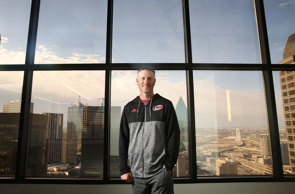 Dallas billionaire Tom Dundon, at his office downtown, is the owner of the Carolina Hurricanes of the National Hockey League.