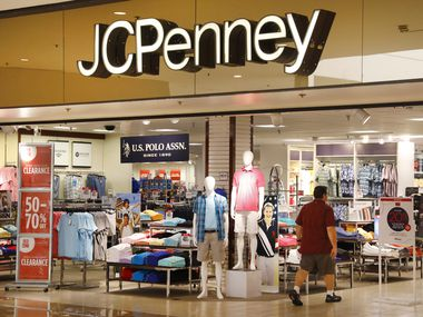 The J.C. Penney store entrance into the Collin Creek Mall in Plano before it closed last year.