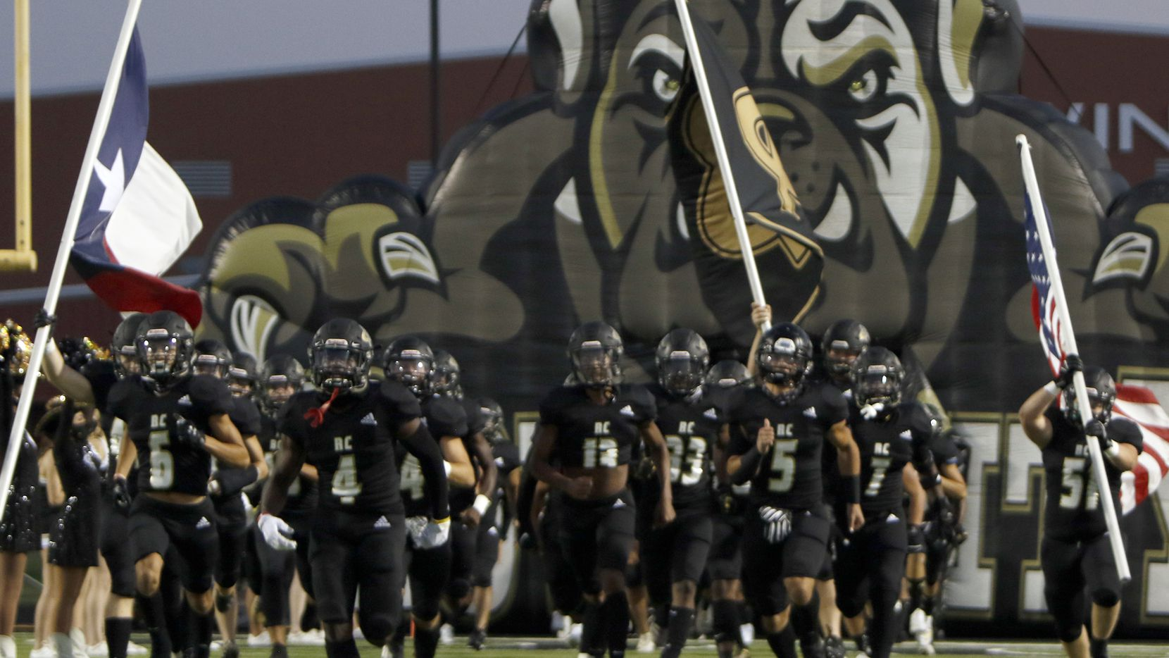 Royse City takes the field for its game against Frisco Centennial on September 25, 2020. (Steve Hamm/ Special Contributor)