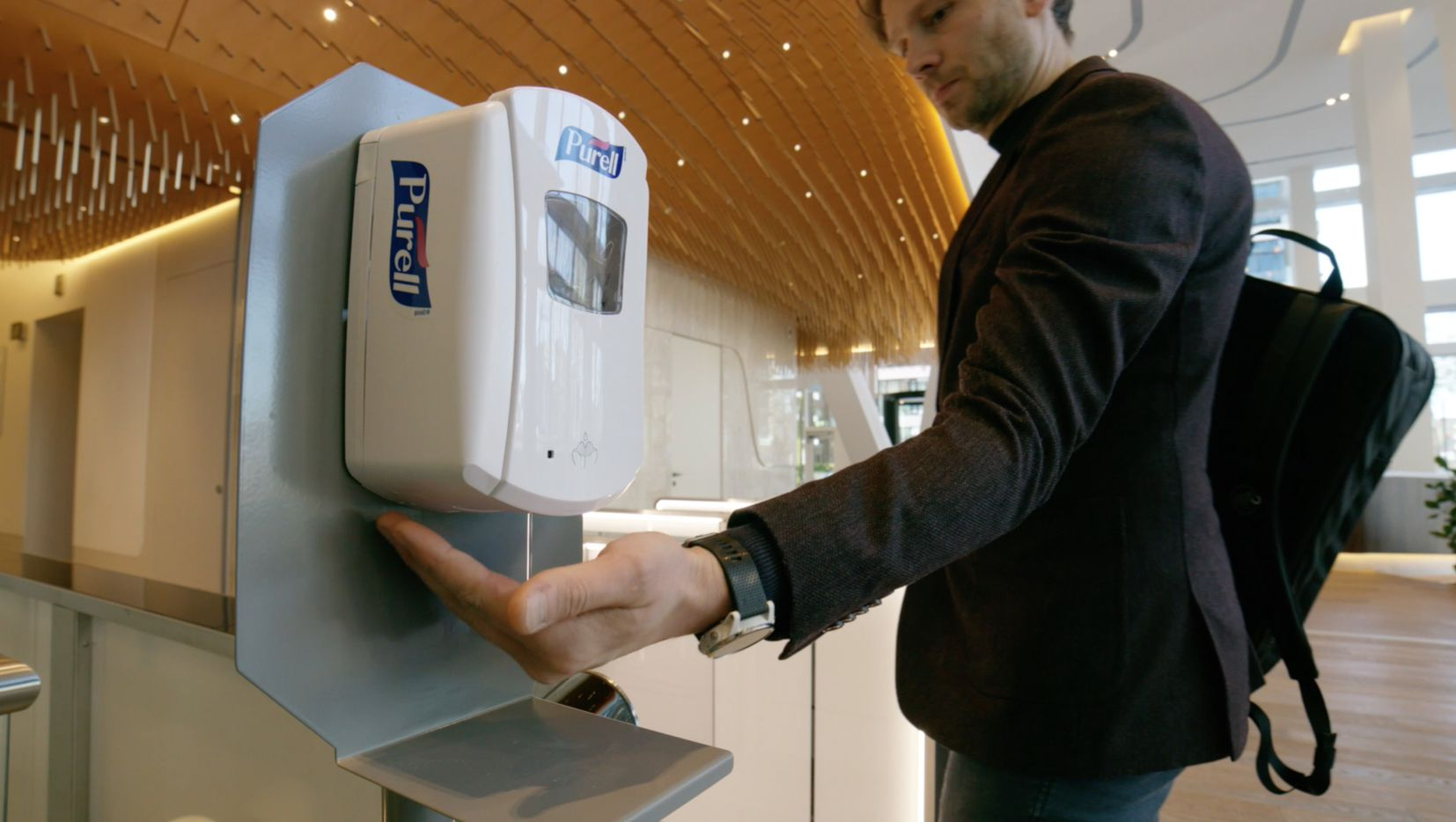 Hand sanitizer dispensers are the new must-have office feature.