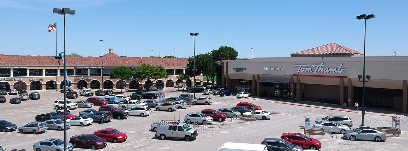 The Lake Highlands Village shopping center is near Skillman and LBJ Freeway.