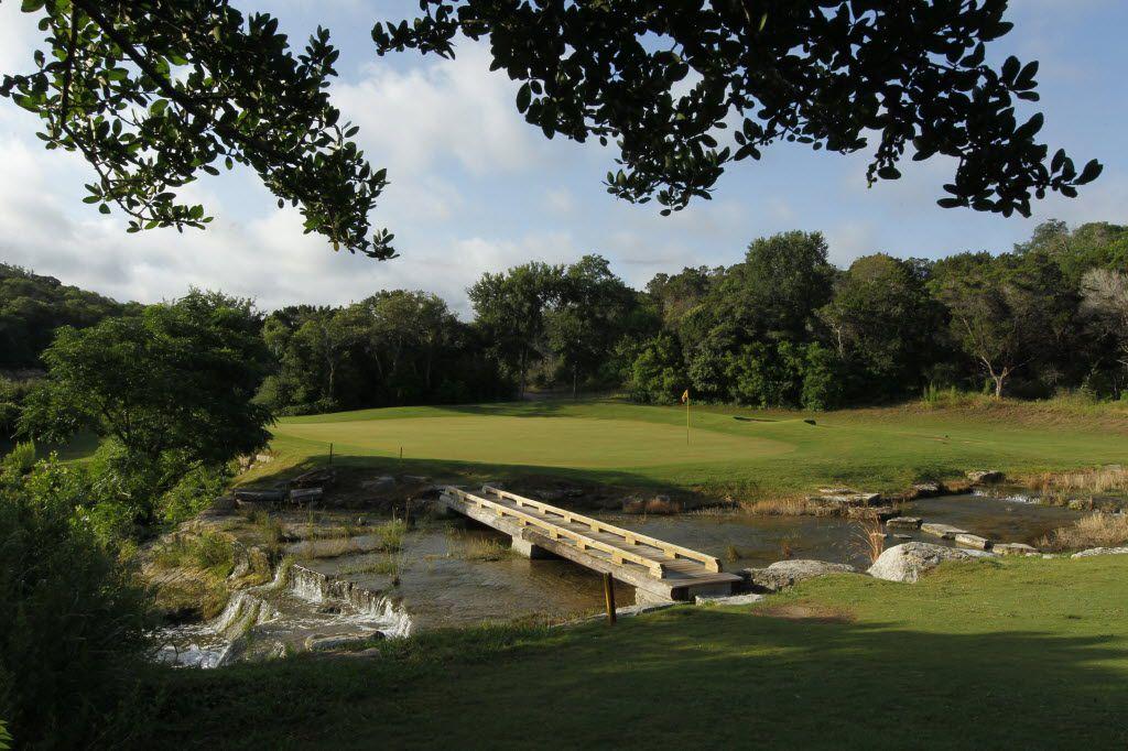 5/29/12  -  #10 green, Barton Creek Fazio Canyons golf course in Austin, Texas May 29, 2012. (Erich Schlegel/Special Contributor) 06102012xTEXASGOLF