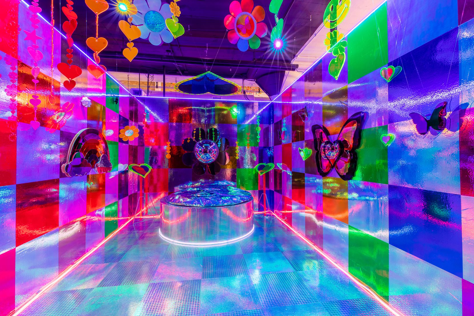 Bright colors and interactive experiences abound at the Wndr museum in Chicago.