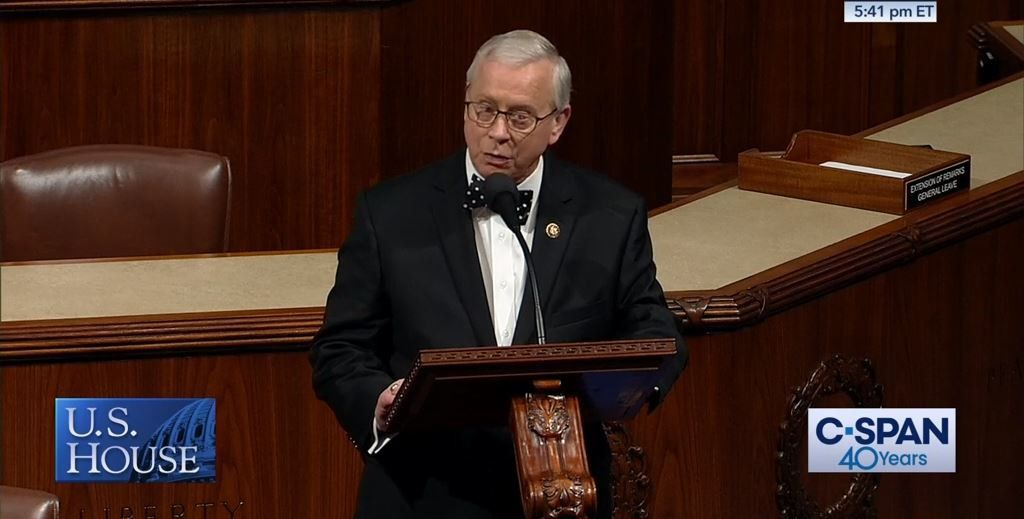 Rep. Ron Wright, R-Arlington, said Dec. 12 that the Democrats' bill to lower prescription drug costs would have prevented the creation of the drug he takes to treat his lung cancer. In the photo, Wright speaks on the House floor on May 22, 2019.