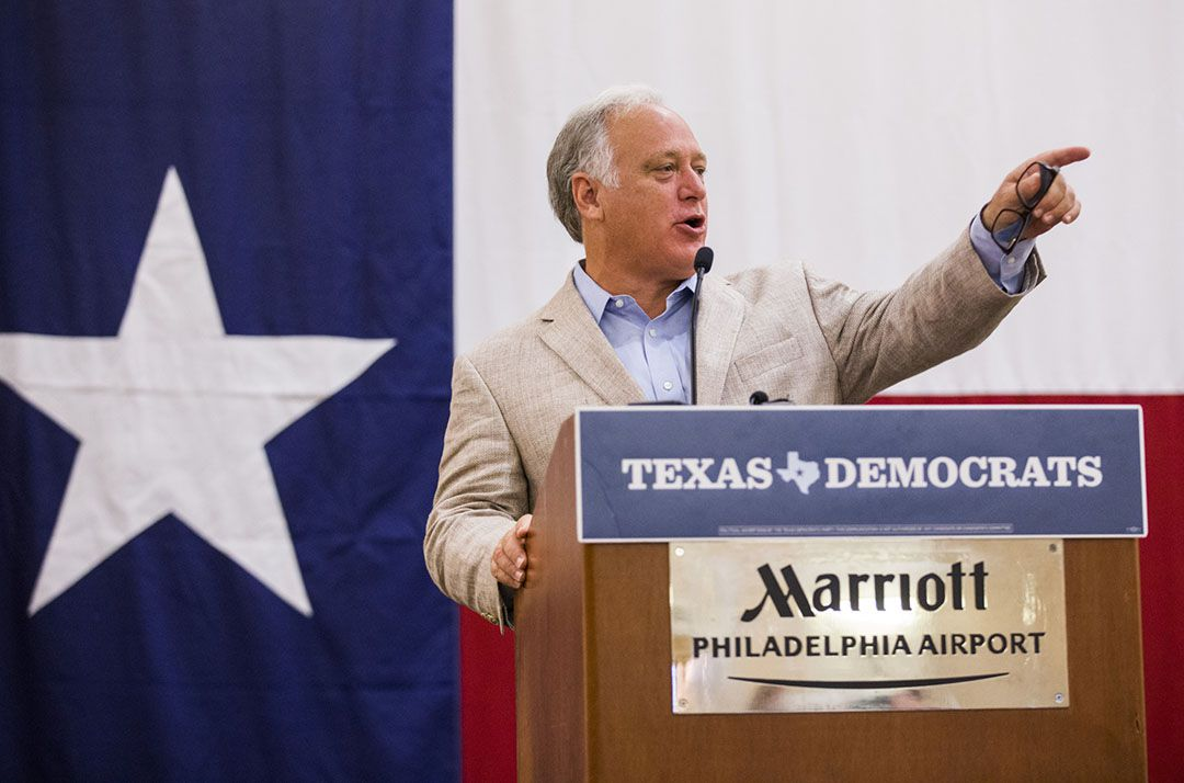 Texas Senator Kirk Watson speaks at the Texas delegation breakfast during day four of the Democratic National Convention on Thursday, July 28, 2016 at the Philadelphia Airport Marriott in Philadelphia, Pennsylvania. (Ashley Landis/The Dallas Morning News)