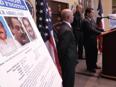 Dallas FBI officials announce that Yaser Said is on the bureau's Most Wanted list.