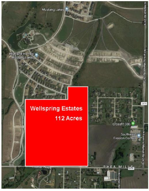 The Wellspring Estates property is north of U.S. 380.