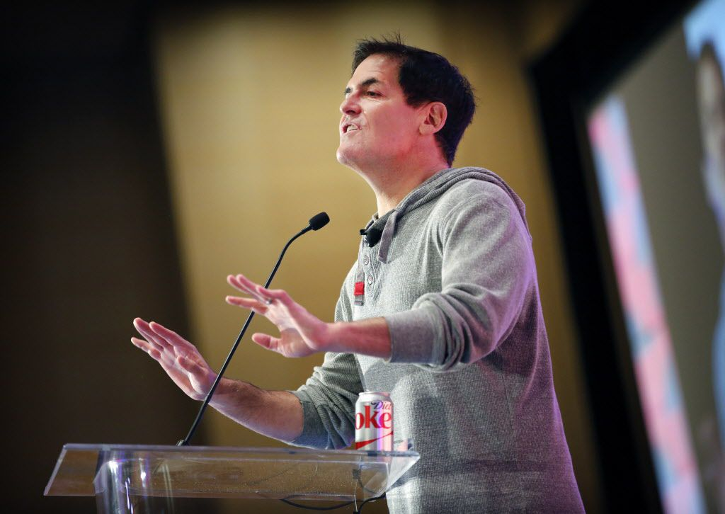 Dallas Mavericks owner Mark Cuban addresses questions from the audience during his keynote appearance the Fantasy Sports Trade Association conference held at the Omni Dallas Hotel, Wednesday, January 20, 2016. (Tom Fox/The Dallas Morning News)