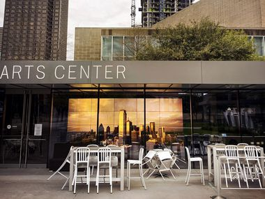 It was a quiet Saturday night in the Dallas Arts District as theatres, restaurants and shops closed due to the coronavirus pandemic.