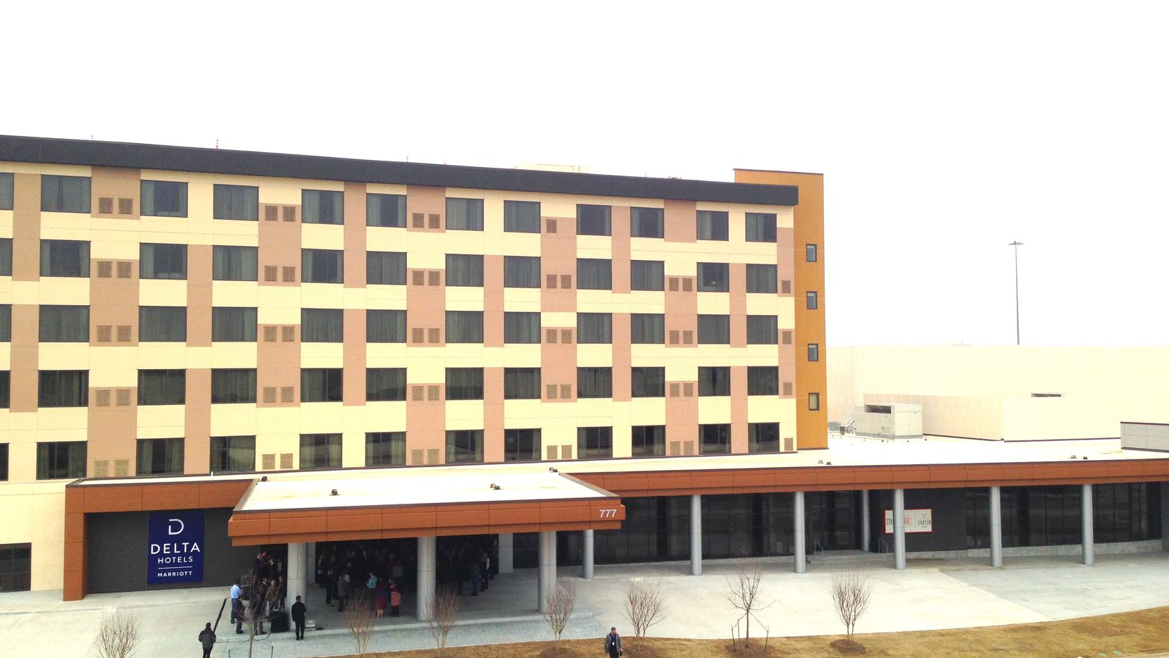 The 300-room hotel and 90,000-square-foot convention center are on U.S. Highway 75 in Allen.