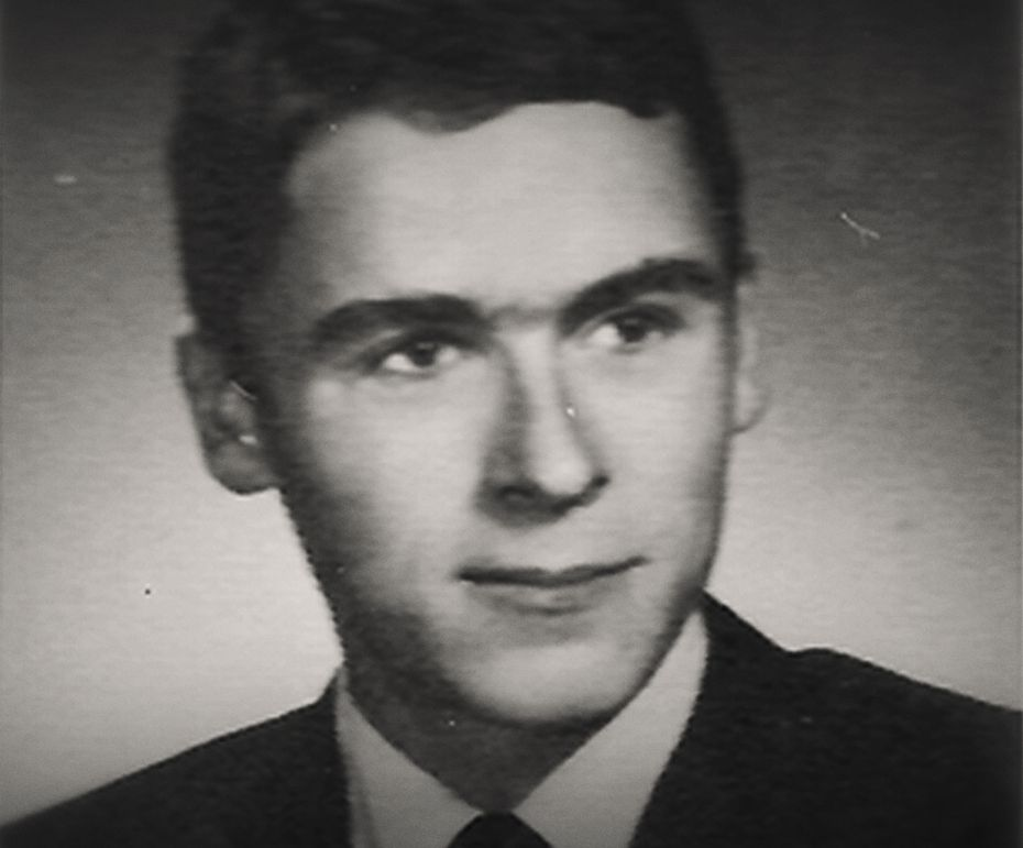 A young Ted Bundy, in a photo from Conversations with a Killer: The Ted Bundy Tapes.