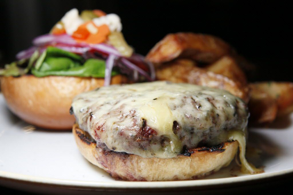 44 Farms burger with local cheese and triple-cooked fries