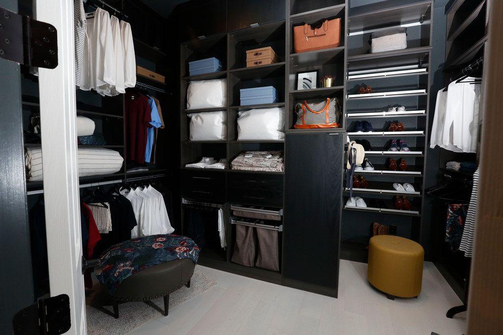 The master closet has plenty of storage.