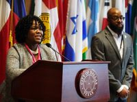 Photo from a welcome reception for the new Police Monitor Tonya McClary during a Community Oversight Board meeting at City Hall in Dallas, TX on Tuesday, February 11, 2020