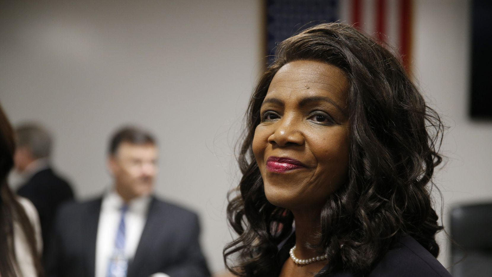 The Honorable Faith Johnson before being sworn in at the Dallas County District Attorney at the Frank Crowley Courts Building in Dallas on January 2, 2017.  (Nathan Hunsinger/The Dallas Morning News)