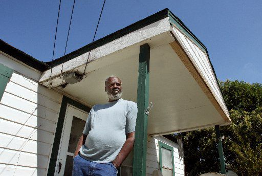 in 2008, Billy Wayne Miller stands on the porch in the Oak Cliff neighborhood of Dallas i, where he was wrongly visually identified by a rape victim in the early 1980s, using in a police technique called a show up. He was wrongfully convicted and imprisoned for the crime, until DNA freed him from prison 22 years later.