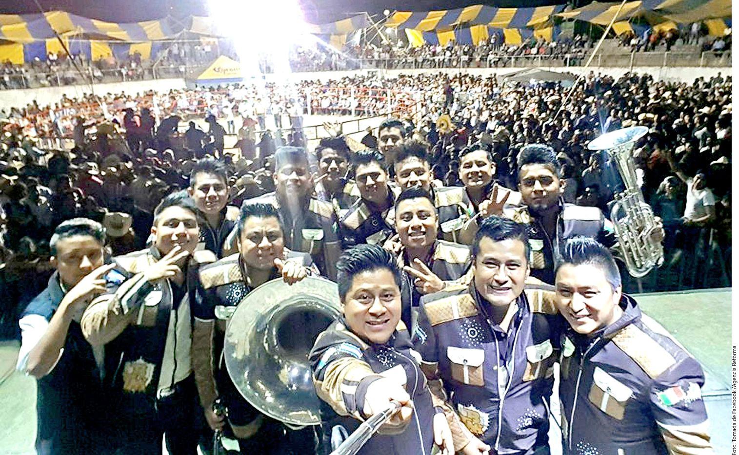 Virgilio Ruiz García (al frente), líder d ela banda Tierra Mojada, murió de un balazo./ AGENCIA REFORMA