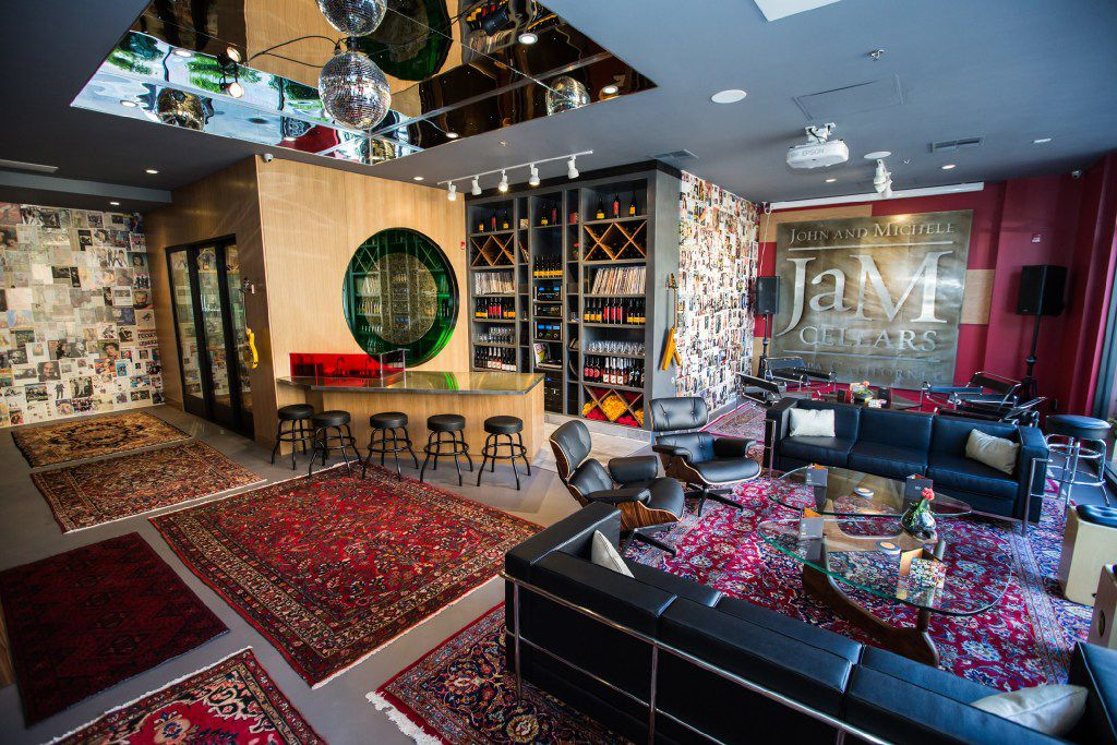 JaM Cellars has a rock n roll bar vibe.
