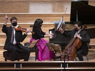 Dallas Chamber Music Society presented the Horszowski Trio, with violinist Jesse Mills, pianist Rieko Aizawa and cellist Ole Akahoshi, in a performance of Rebecca Clarke's Piano Trio on Jan. 25 at Lovers Lane United Methodist Church.