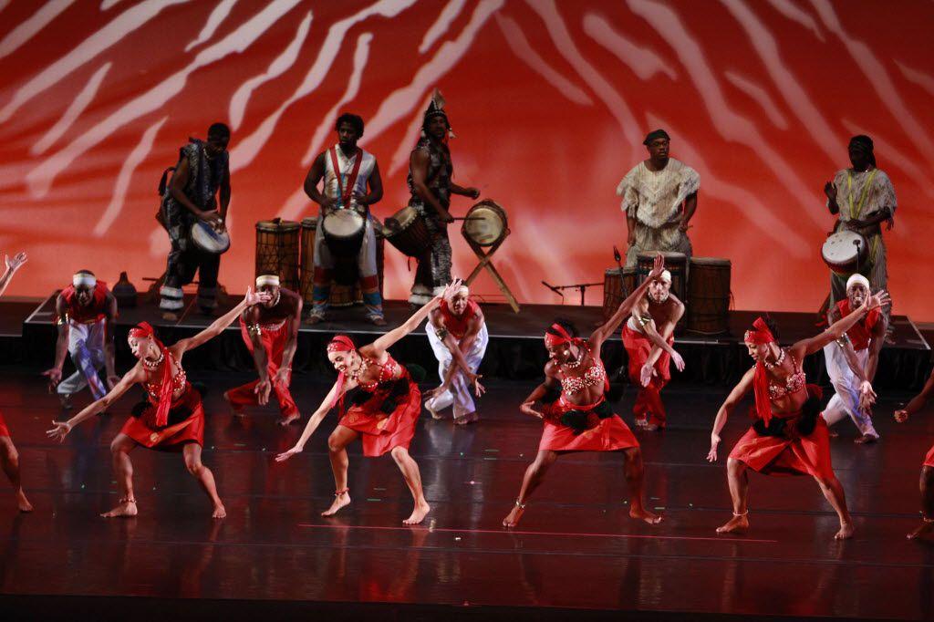 Bandan Koro African Drum & Dance Ensemble accompanied Dallas Black Dance Theatre at the 2013 DanceAfrica.