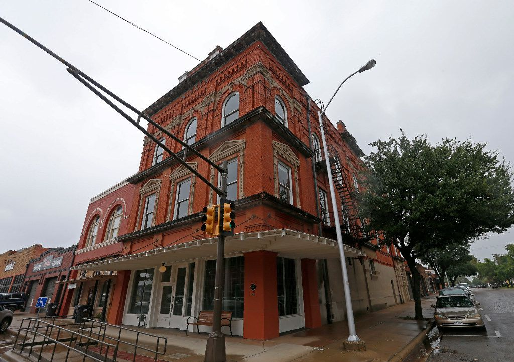 The 100 West building in downtown Corsicana offers both private and communal studios, a wood shop, a gallery and a residency program for artists and writers.