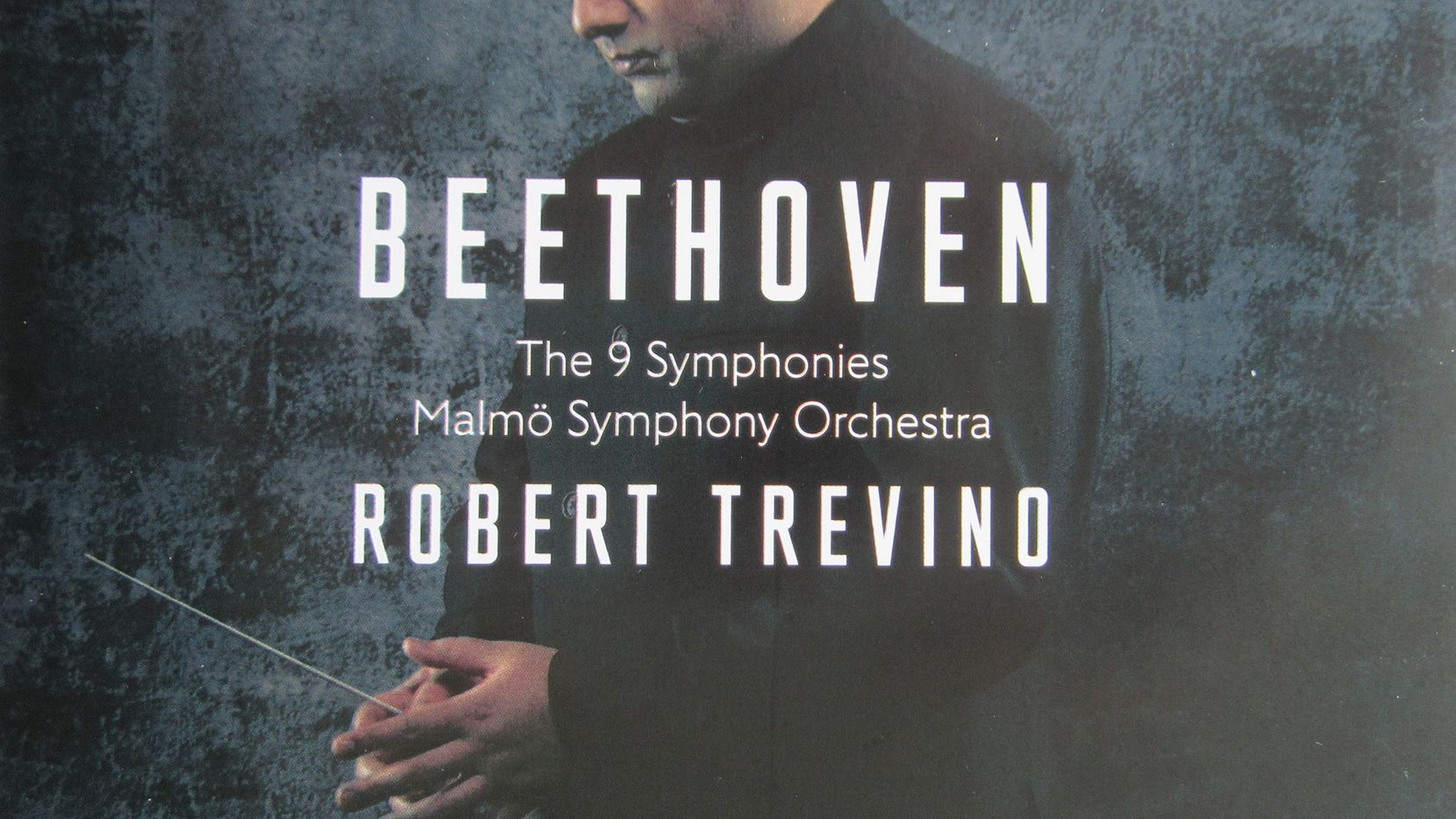 Robert Trevino, shown on the cover of his CD conducting the Malmo Symphony Orchestra.