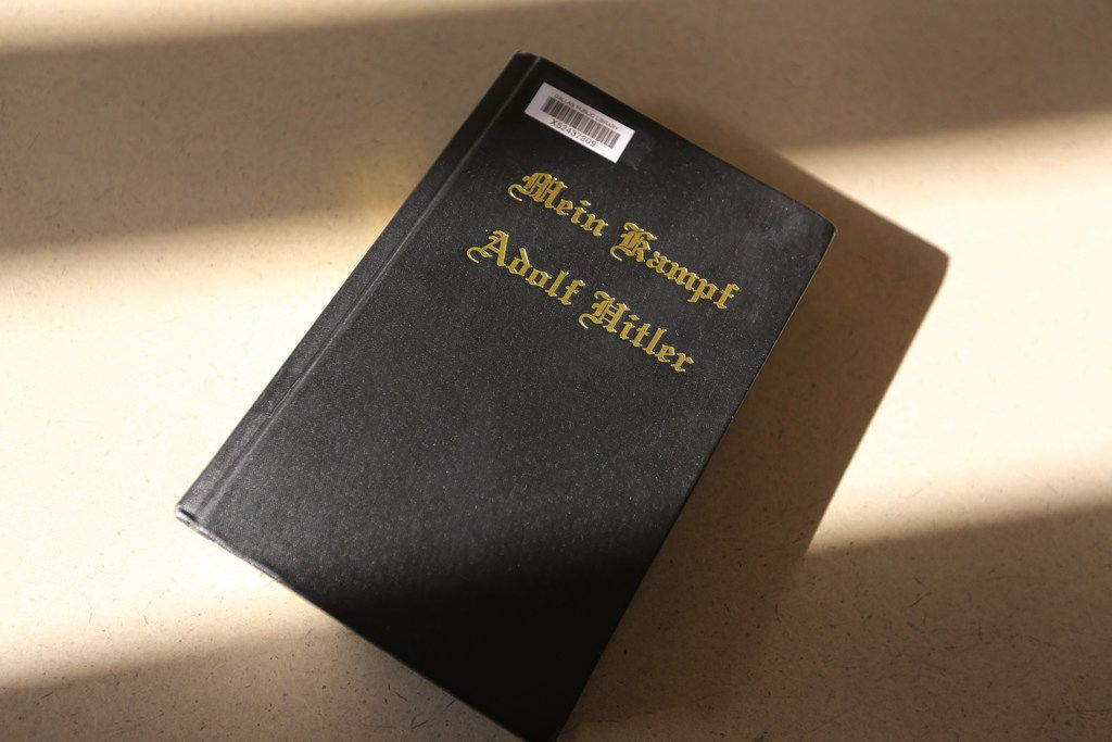 Mein Kampf, by Adolf Hitler, has been approved for reading in Texas prisons. Photographed at the Dallas Public Library on Tuesday, November 28, 2017.