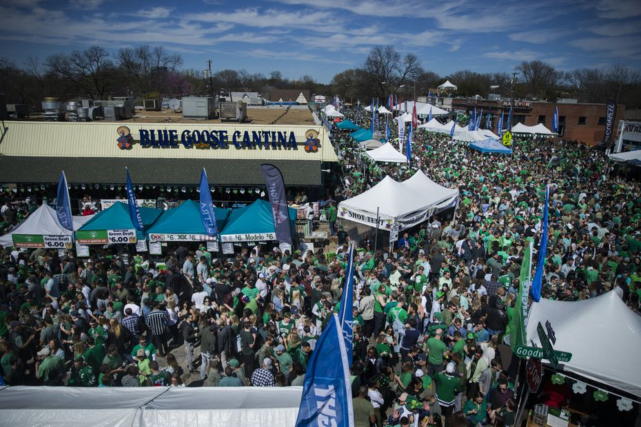 The Lower Greenville Avenue St. Patrick's Block Party in Dallas is a separate event from the parade. The block party typically takes place in the afternoon after the parade has ended.