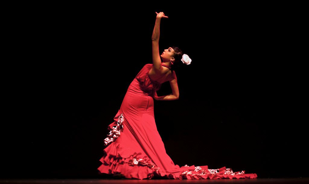 Seville is a great place to catch a flamenco performance, like this one by dancer Andrea Fernandez.