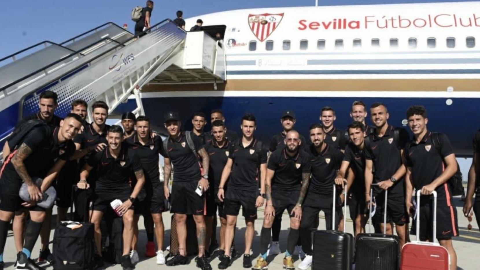 El Sevilla viajó a Dallas este lunes.