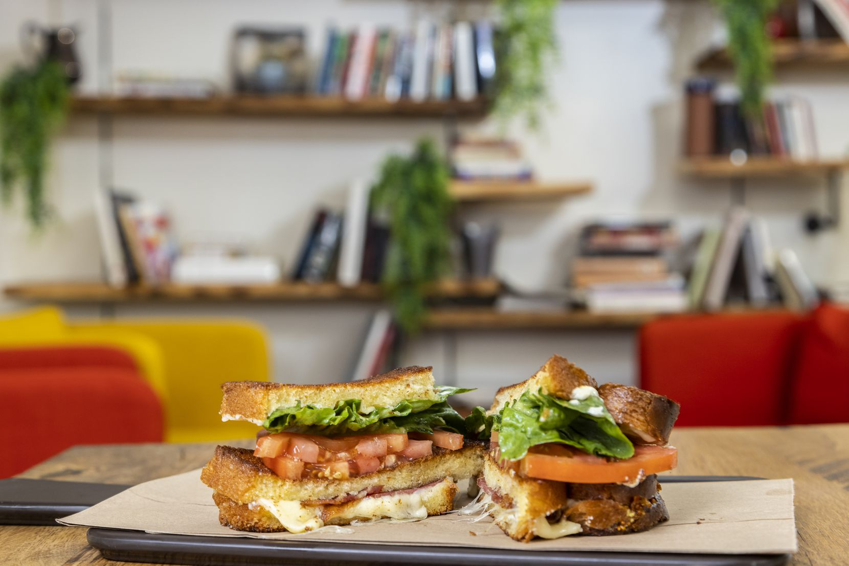 A Grilled Cheese BLT sandwich at Brown Bag Provisions