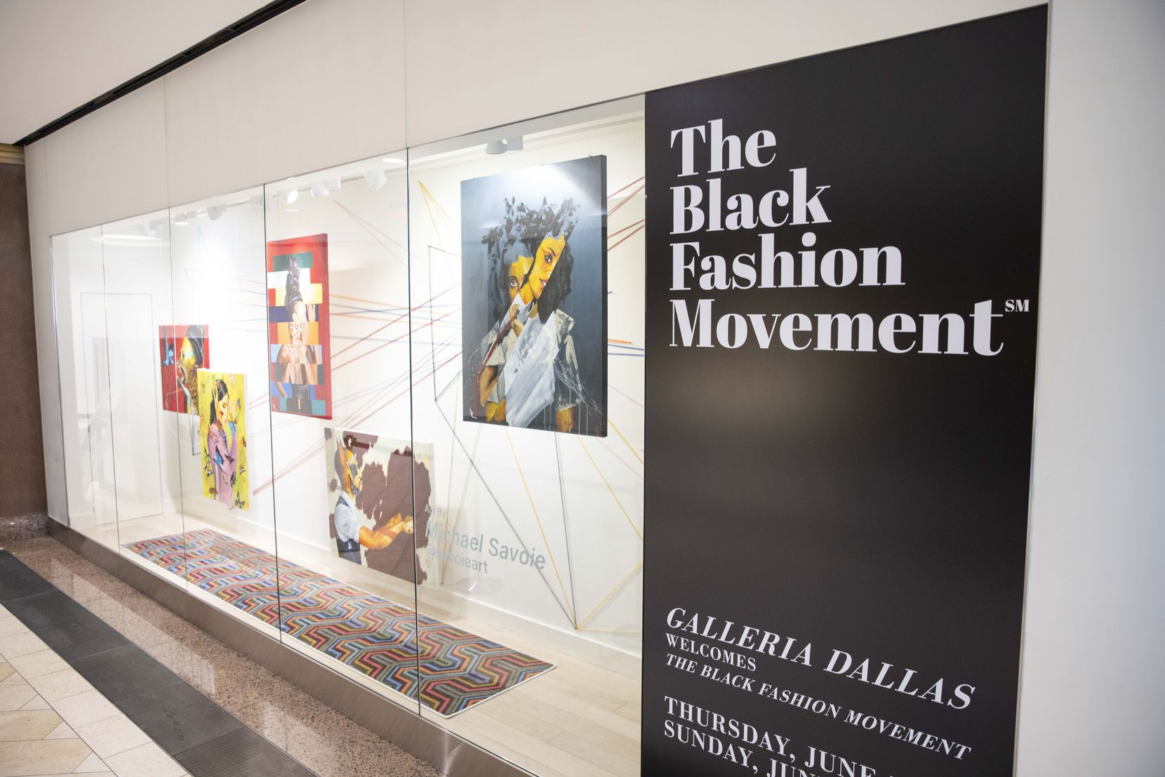 The Black Fashion Movement pop-up runs through Sunday at the Galleria.