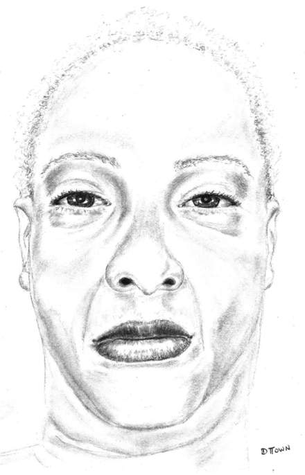Police released a sketch of the dead woman.
