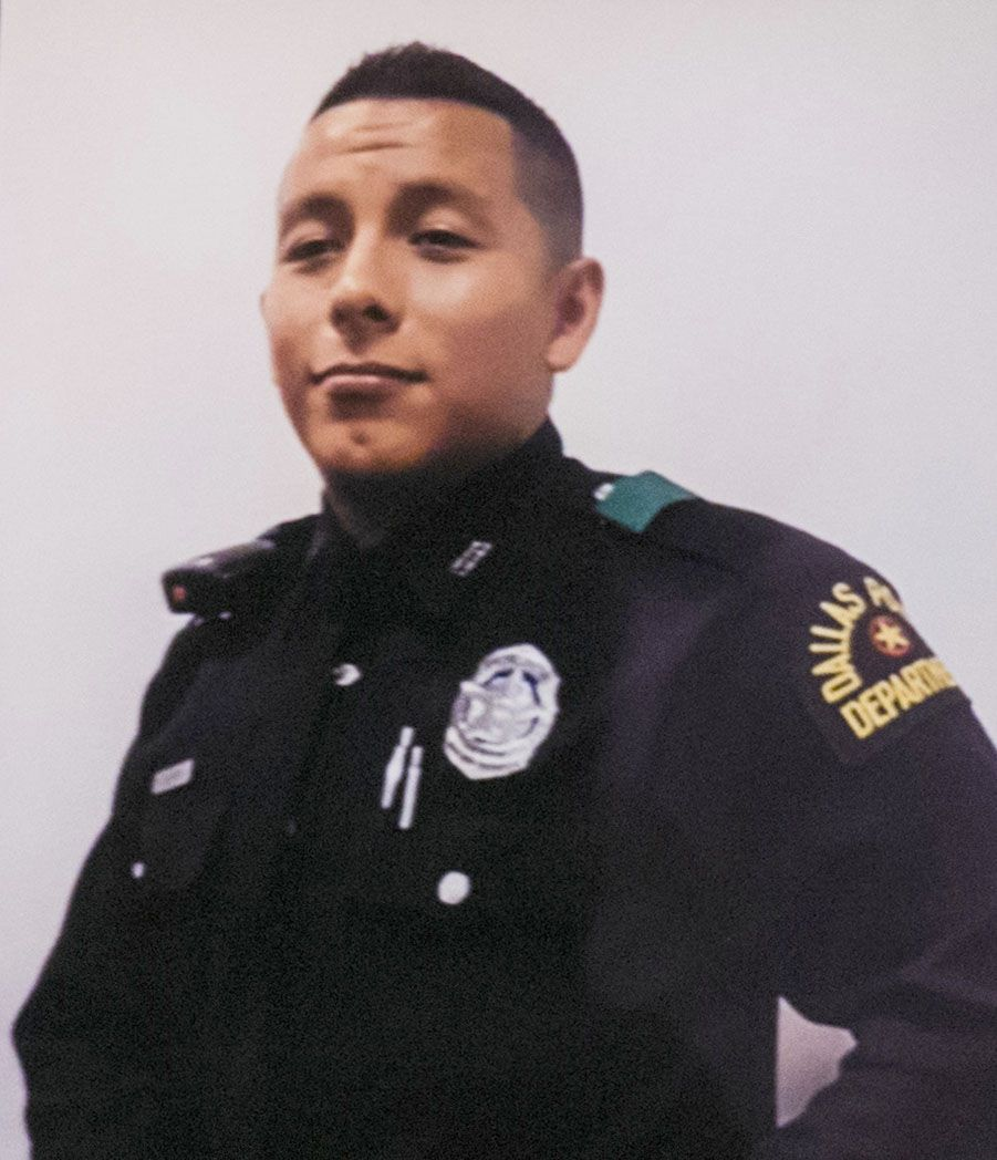Dallas Police Officer Rogelio Santander was shot Tuesday outside of a Home Depot in Lake Highlands. He died Wednesday.