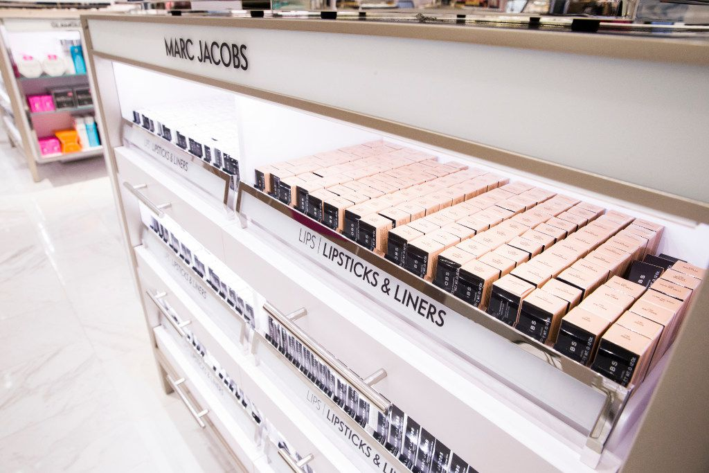 A Marc Jacobs self-serve makeup counter inside a new Neiman Marcus store on Wednesday, February 8, 2017 at The Shops at Clearfork in Fort Worth, Texas. (Ashley Landis/The Dallas Morning News)