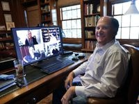 Bob Pryor, CEO of NTT Data Services in Plano, used to travel over 300,000 miles a year to meet clients, partners and employees. Now he holds virtual meetings from home, saving time and money.