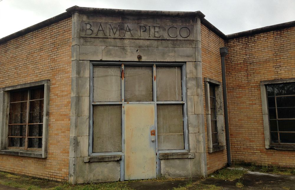 The historic Bama Pie building