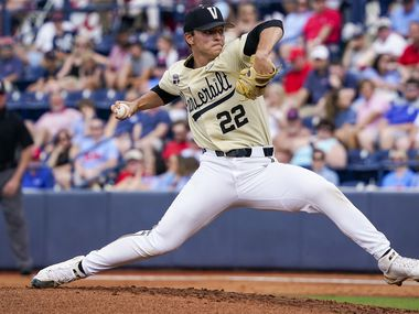 The Texas Rangers selected Vanderbilt pitcher Jack Leiter with the No. 2 pick of the 2021 MLB draft.