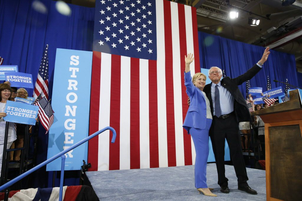 Hillary Clinton and Sen. Bernie Sanders in 2016 patched things up enough to hit the campaign trail together. But a frostiness remained.