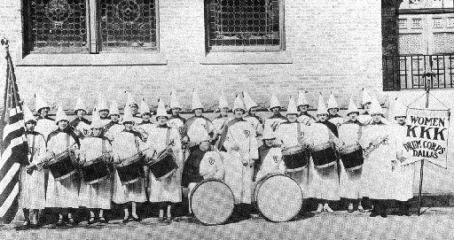 Ku Klux Klan women's drum corps.