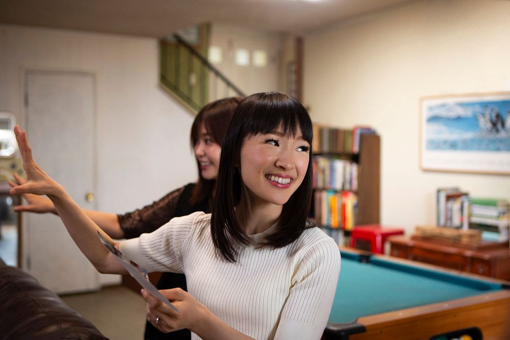 Marie Kondo, a professional organizer, has persuaded millions of people to clean out their closets. But emptying the bookshelves? That may be a step too far.
